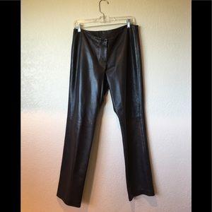Pants - Michael Kors dark brown real leather pant!